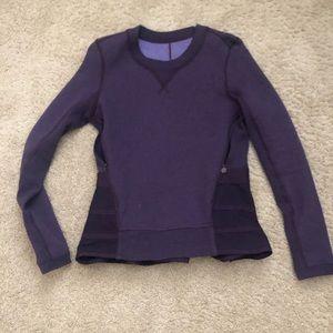 Lululemon size 4 purple sweatshirt